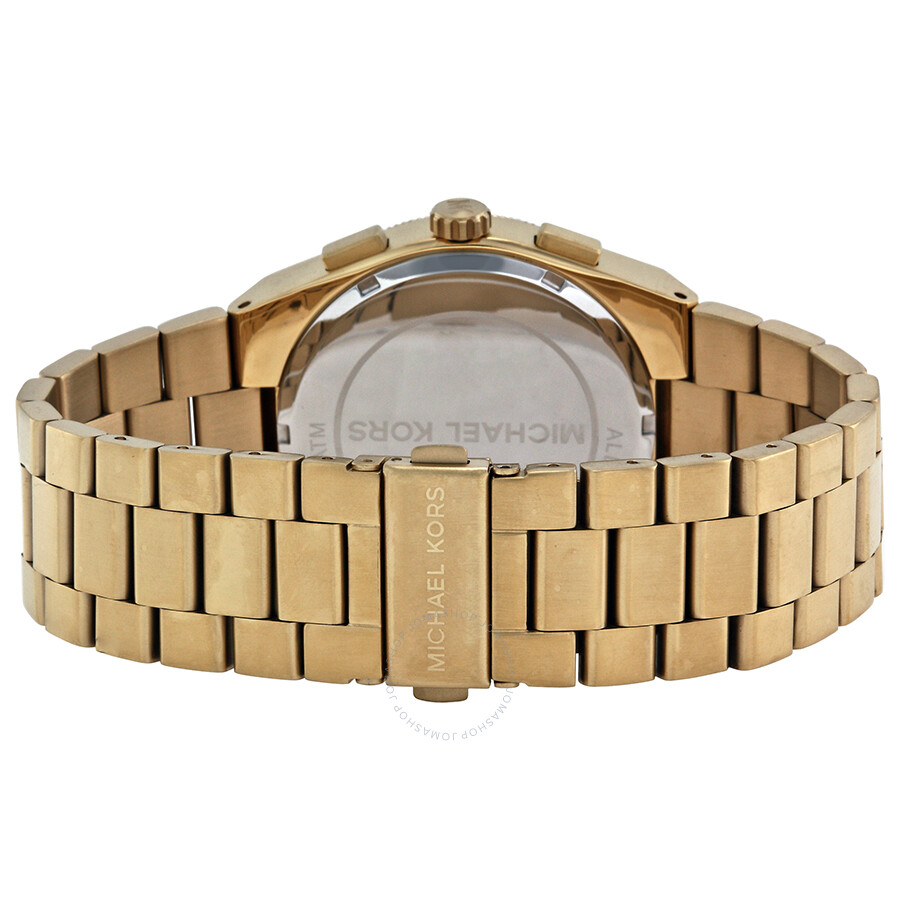 c317ade9f88 ... Michael Kors Brooks Chronograph Blue Dial Gold-tone Men s Watch MK8338  ...