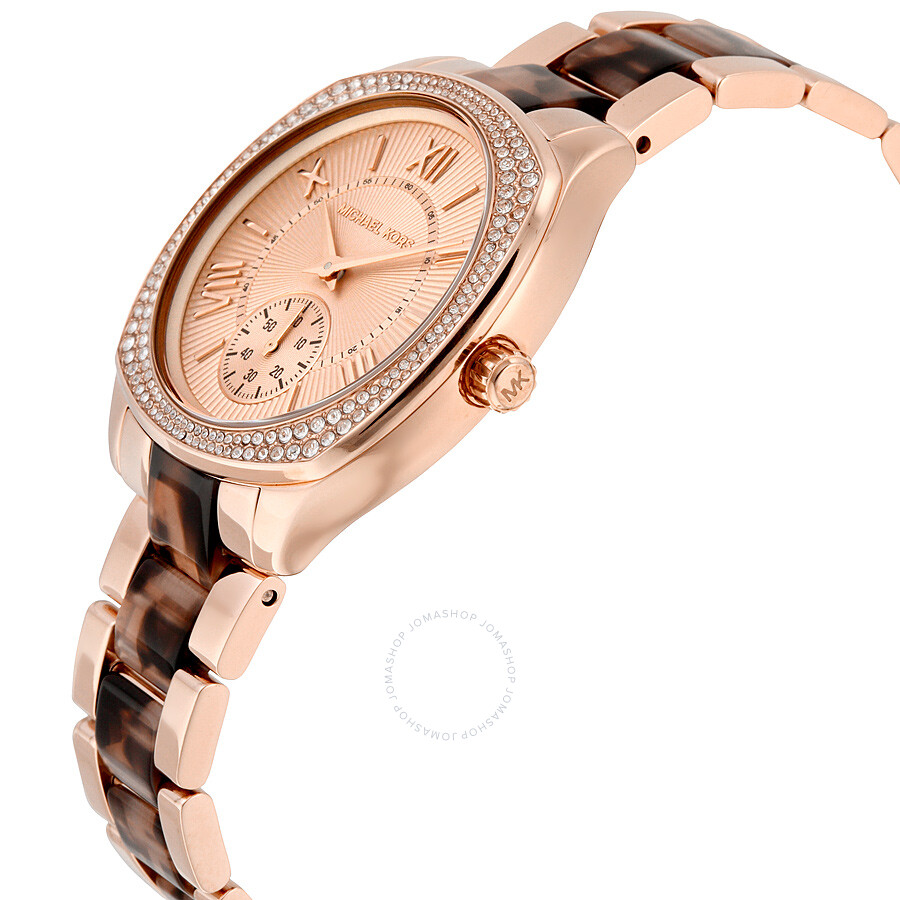 michael kors bryn rose gold tone dial two tone ladies watch mk6276 bryn michael kors. Black Bedroom Furniture Sets. Home Design Ideas