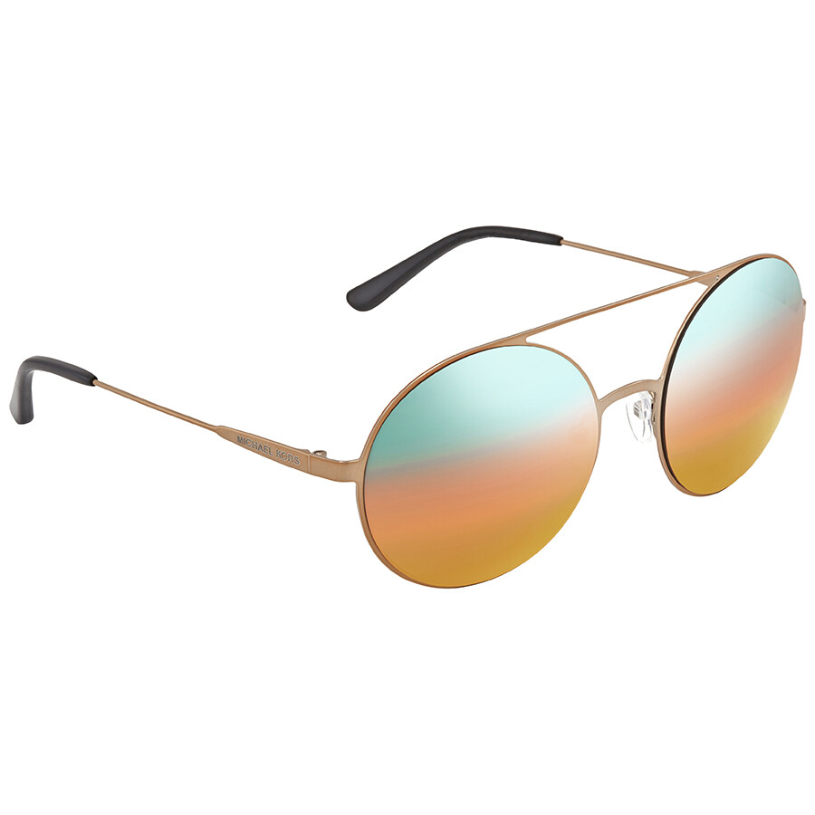 c5d6042dd3 Michael Kors Cabo Teal  Orange Gradient Mirror Round Sunglasses MK1027  1193A8 55 ...