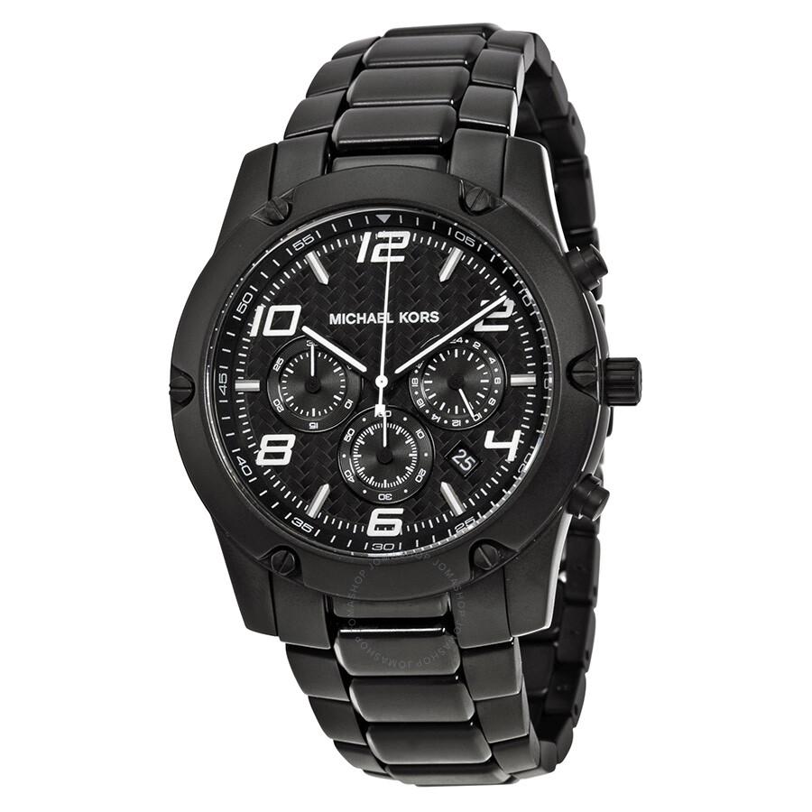 1cd6656926bf Michael Kors Caine Chronograph Black IP Stainless Steel Men s Watch MK8473  ...