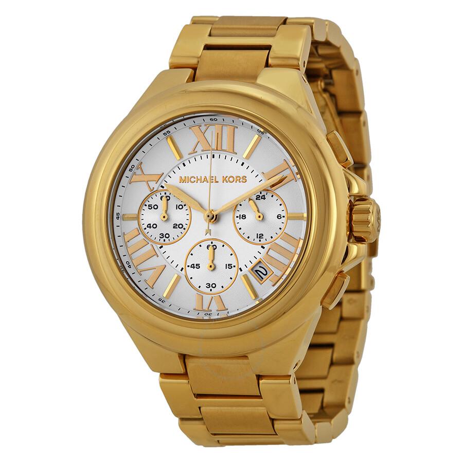 e97c0beab733 Michael Kors Camille Chronograph Gold-Tone Ladies Watch MK5635 ...
