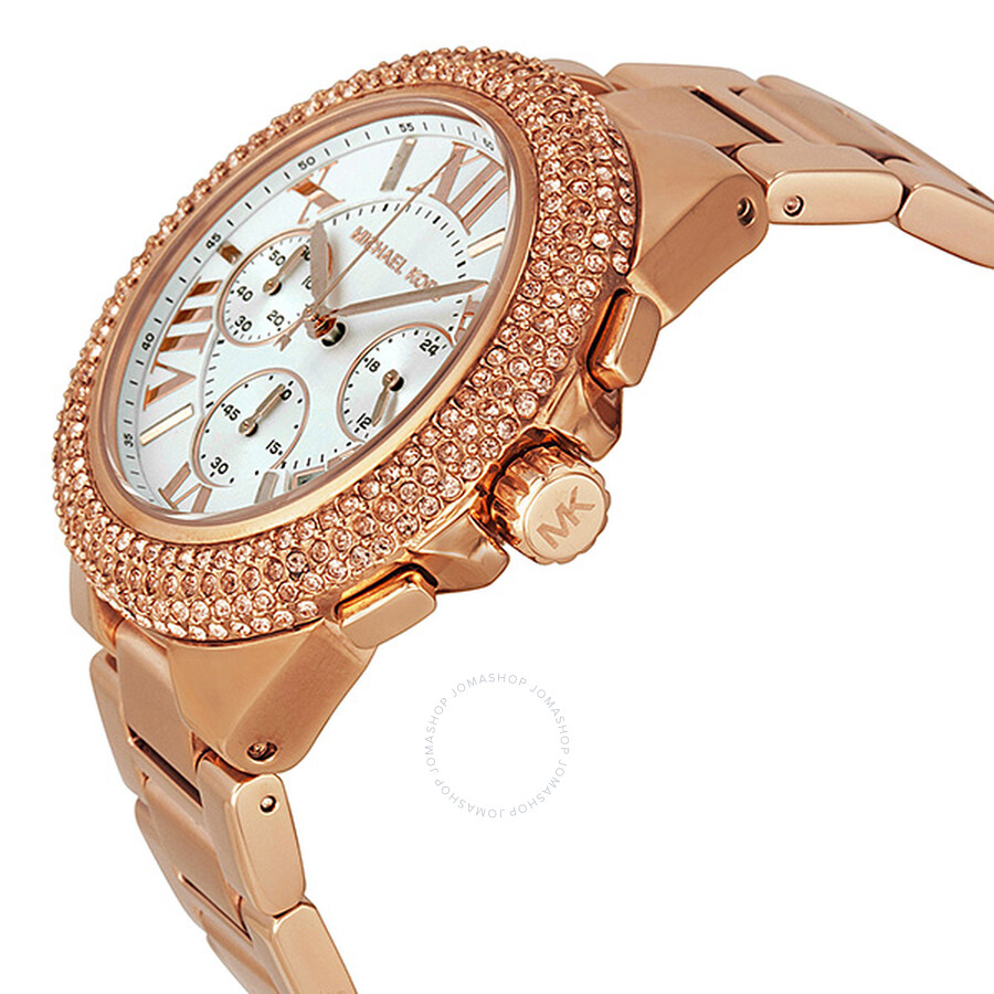 fd4134349e31 ... Michael Kors Camille Chronograph Rose Gold-tone Ladies Watch MK5636 ...