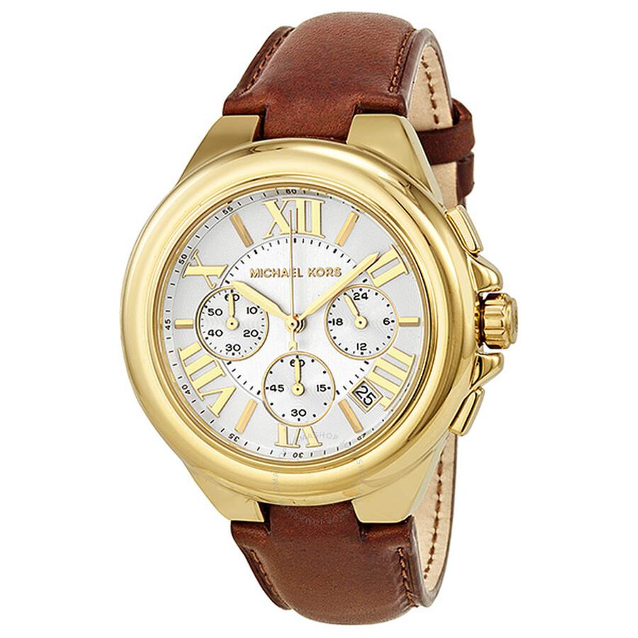a8e6315d2f09 Michael Kors Camille Chronograph White Dial Gold-tone Ladies Watch MK2266  ...