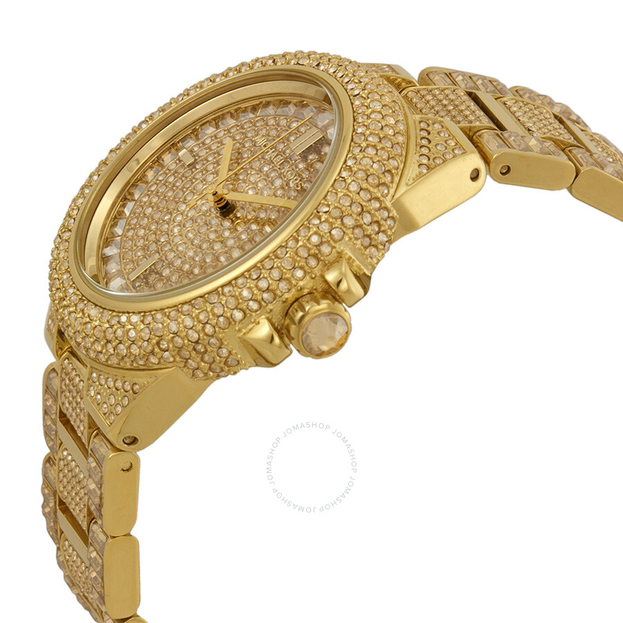 3cd0aa46454d ... Michael Kors Camille Crystal Encrusted Gold Ion-plated Ladies Watch  MK5720 ...