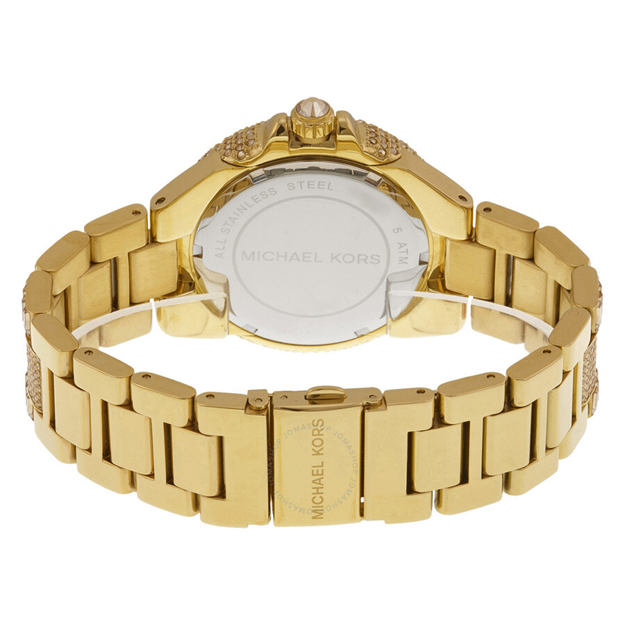 11b3d61a830d ... Michael Kors Camille Crystal Encrusted Gold Ion-plated Ladies Watch  MK5720 ...