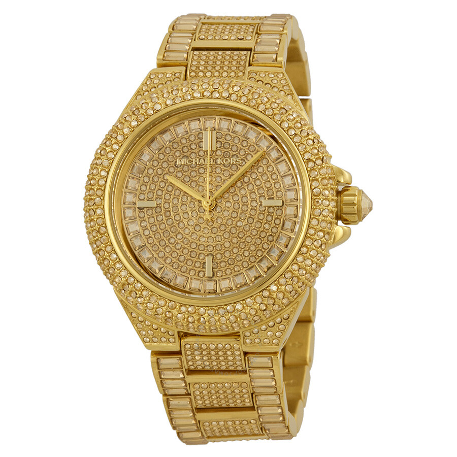 michael kors camille crystal encrusted gold ion plated ladies michael kors camille crystal encrusted gold ion plated ladies watch mk5720