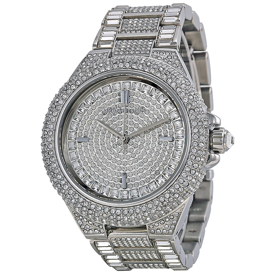 Michael kors camile crystal pave dial crystal encrusted ladies watch mk5869 camille michael for Crystal watches