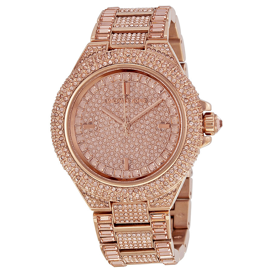 Michael Kors Camille Rose Dial Rose Gold-tone Ladies Watch ... - photo #46