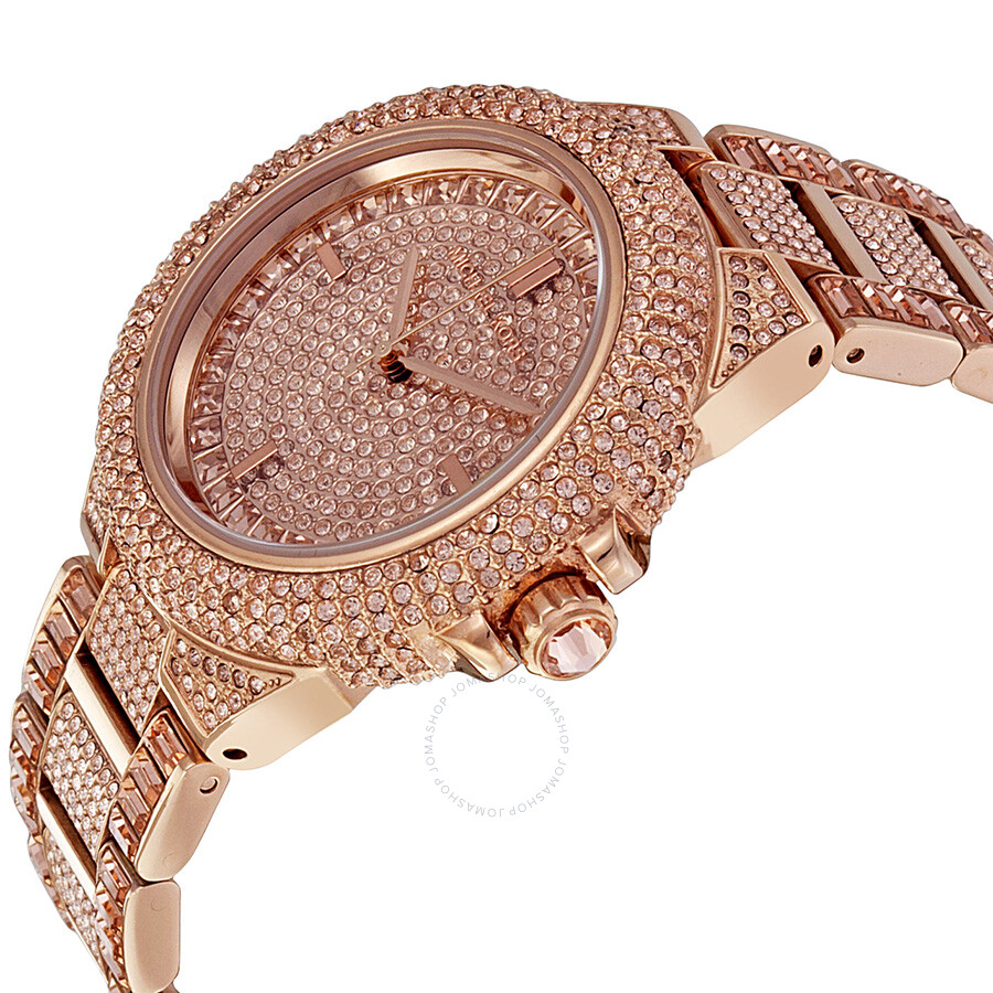 michael kors camille rose dial rose gold tone ladies watch. Black Bedroom Furniture Sets. Home Design Ideas