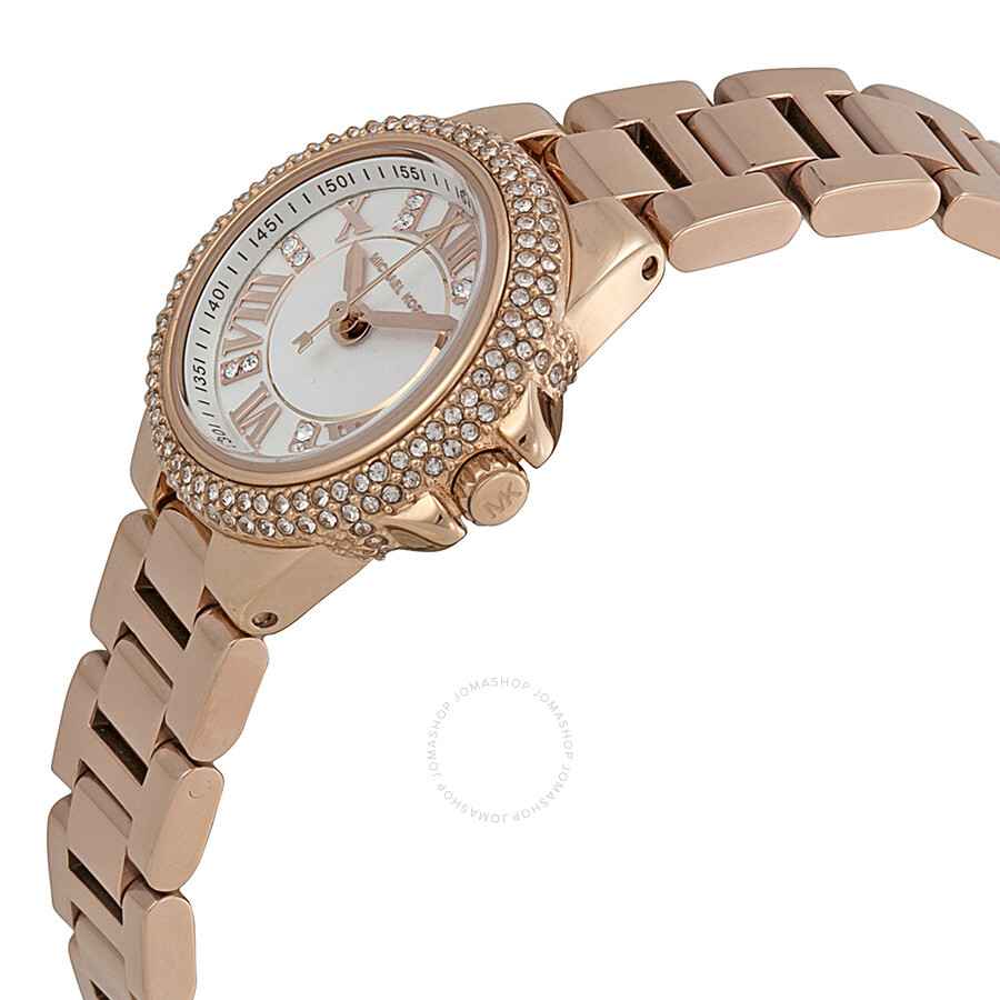 e2224ba1ea01 ... Michael Kors Camille White Dial Rose Gold-tone Ladies Watch MK3253 ...