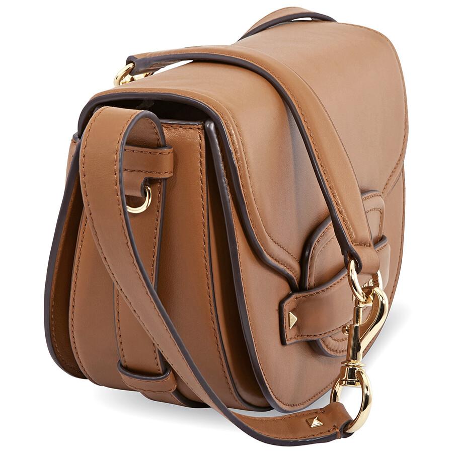 d9c8fab829c8 Michael Kors Cary Medium Leather Saddle Bag- Acorn - Michael Kors ...