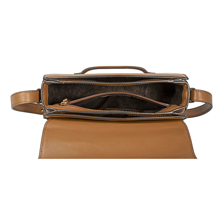 3c13da98001d Michael Kors Cary Medium Leather Saddle Bag- Acorn - Michael Kors ...
