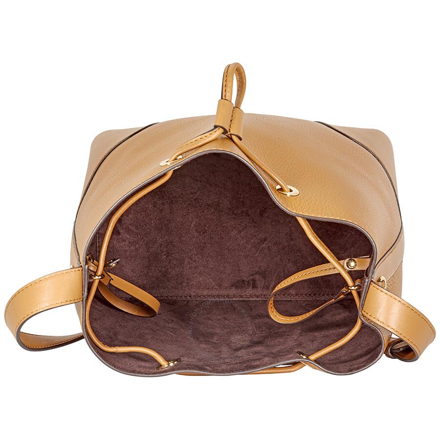 9c233d5f0cb7 Michael Kors Cary Medium Pebbled Leather Bucket Bag- Acorn - Michael ...