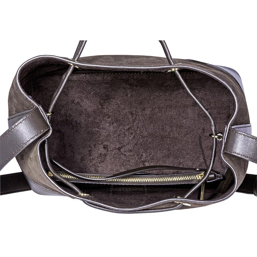 45aa804fbf963f Michael Kors Cary Medium Suede and Leather Bucket Bag - Coffee ...