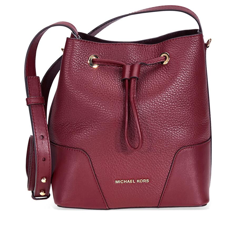 35fd18155594 Michael Kors Cary Pebbled Leather Crossbody Bag- Oxblood Item No.  30F8G0CM1T-610