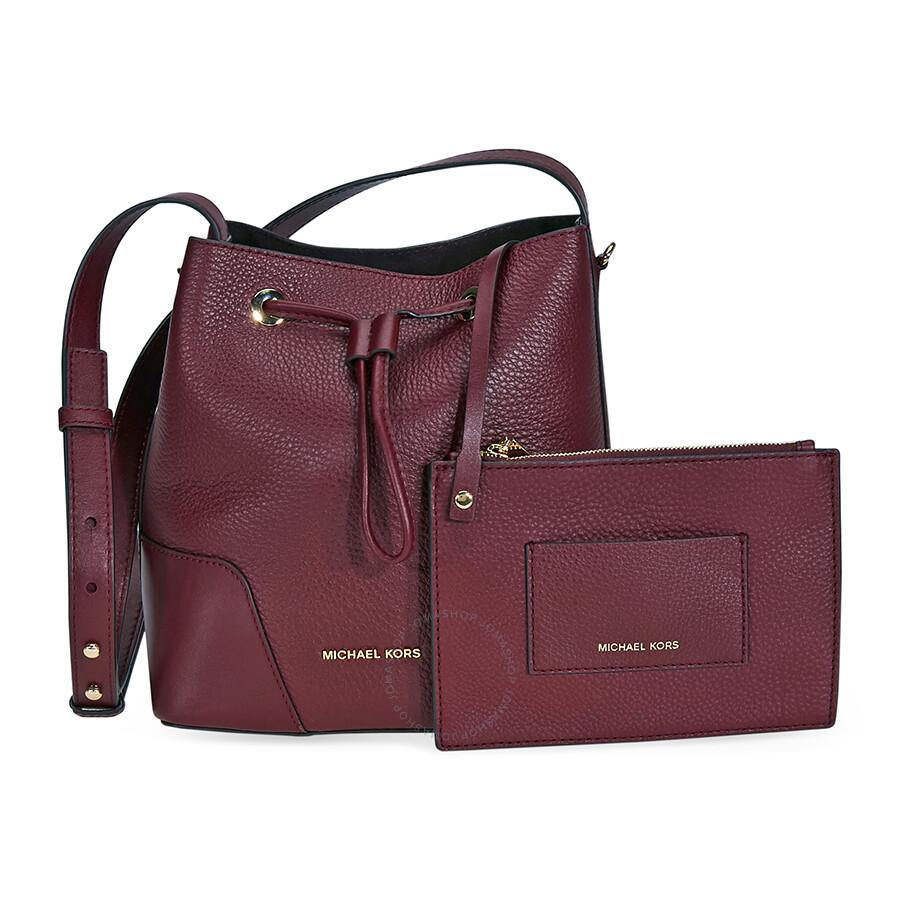 2e537bff751f Michael Kors Cary Pebbled Leather Crossbody Bag- Oxblood - Michael ...