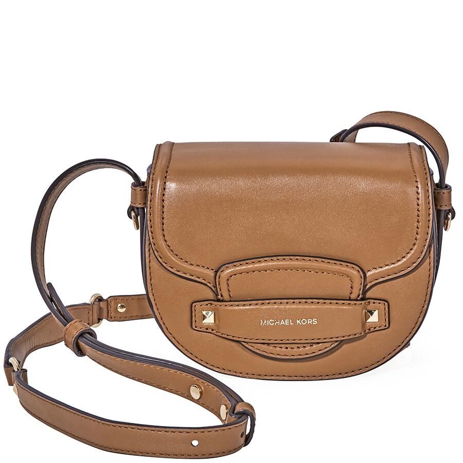 9e402f931ad9 Michael Kors Cary Small Leather Saddle Bag- Acorn Item No. 32F8G0CC1L-203