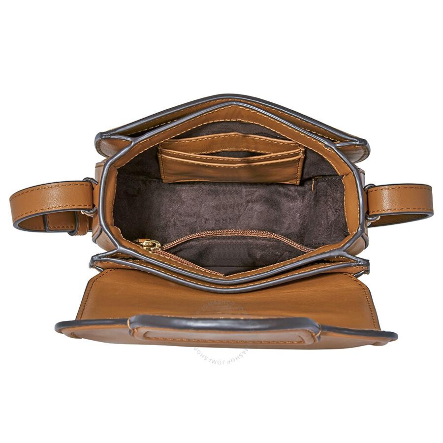 fbc1e1a3be95 Michael Kors Cary Small Leather Saddle Bag- Acorn - Michael Kors ...