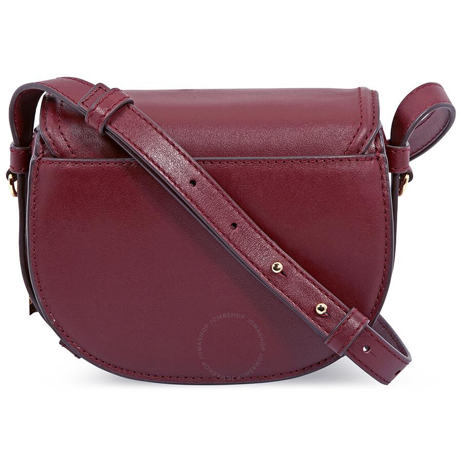 688fb2bbb4c2 Michael Kors Cary Small Leather Saddle Bag- Oxblood - Michael Kors ...
