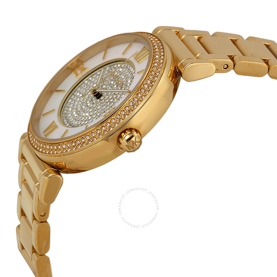 79f2e0dd9b7e ... Michael Kors Catlin Mother of Pearl Dial Gold-plated Ladies Watch MK3332  ...