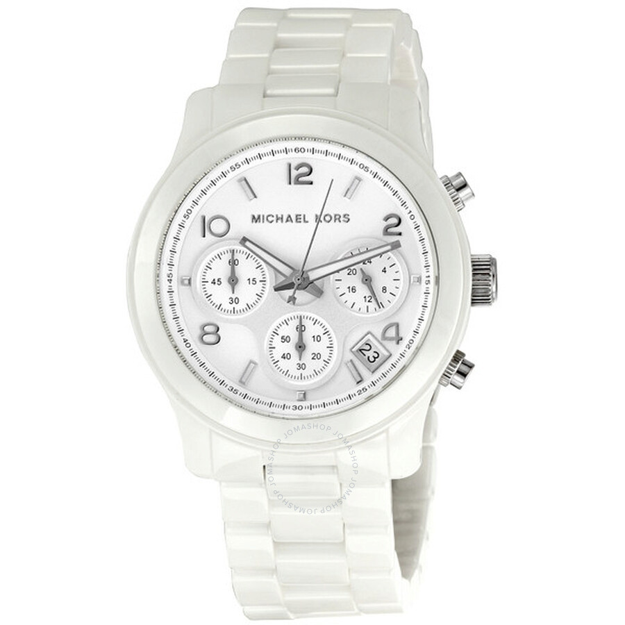 d09647d73678 Michael Kors Ceramic Chronograph Quartz White Dial Ladies Watch MK5161 ...