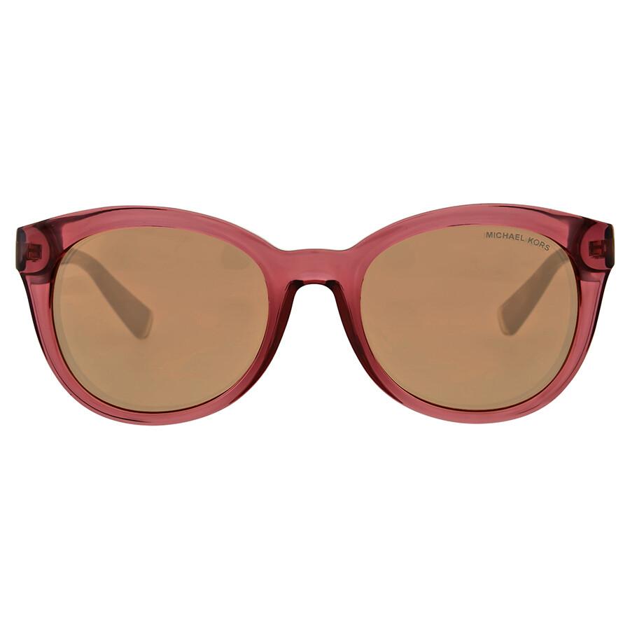 8eef53d14180d Michael Kors Champagne Beach Rose Gold Flash Sunglasses Item No.  MK6019-3053R1-53