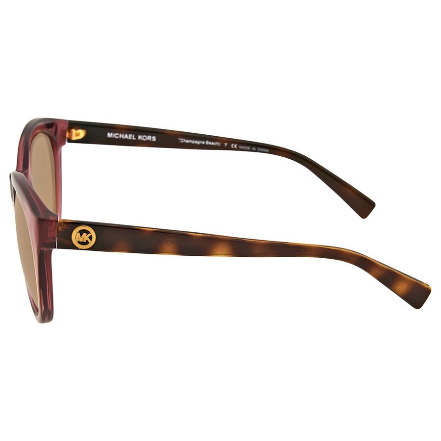 5ec5701bb0d22 Michael Kors Champagne Beach Rose Gold Flash Sunglasses - Michael ...