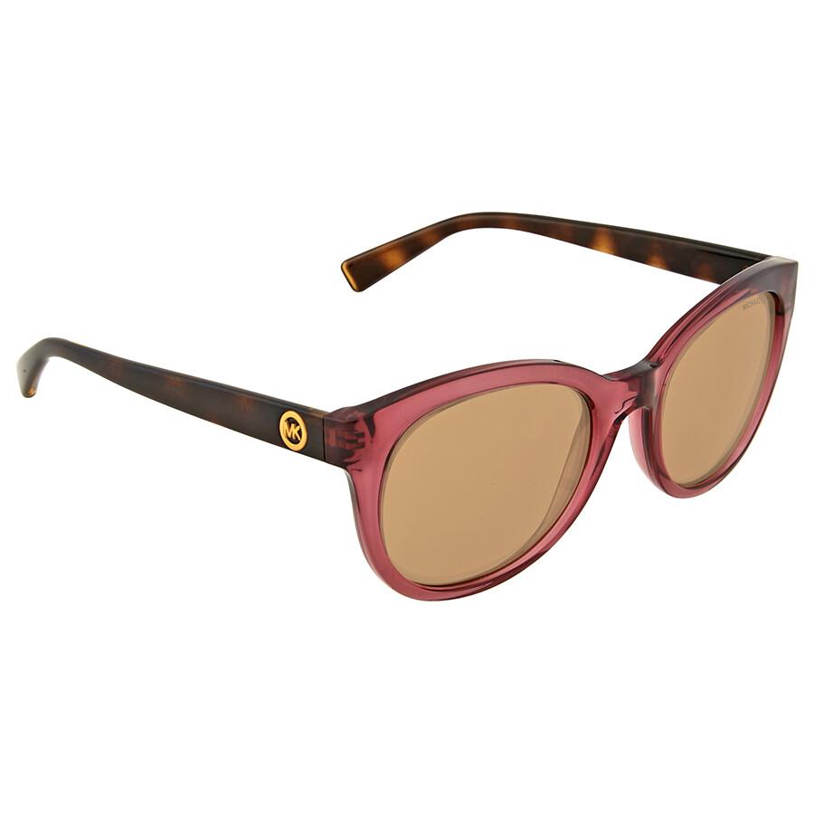 cfa1b3ab877b8 Michael Kors Champagne Beach Rose Gold Flash Sunglasses - Michael ...