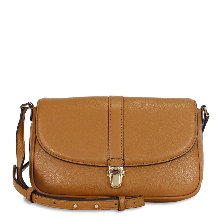 748d72e45744 Michael Kors Charlton Leather Crossbody Bag - Acorn/Gold Item No.  32S6GCNC2L-532