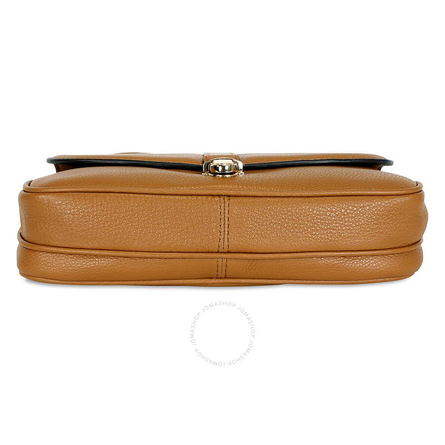 dad67a4bf2f08 Michael Kors Charlton Leather Crossbody Bag - Acorn Gold - Charlton ...