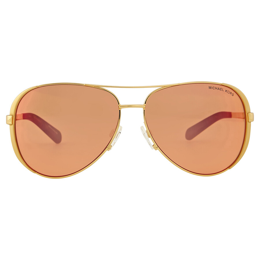Mirrored Aviator Sunglasses  michael kors chelsea pink orange mirror aviator sunglasses