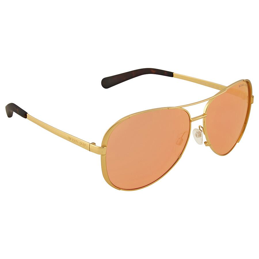 ea416e800d Michael Kors Chelsea Pink Orange Mirror Aviator Sunglasses - Michael ...