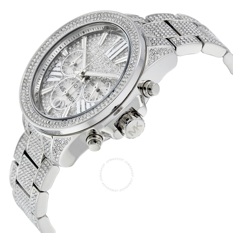 466d1242d746 ... Michael Kors Chronograph Crystal Pave Dial Ladies Watch MK6317 ...