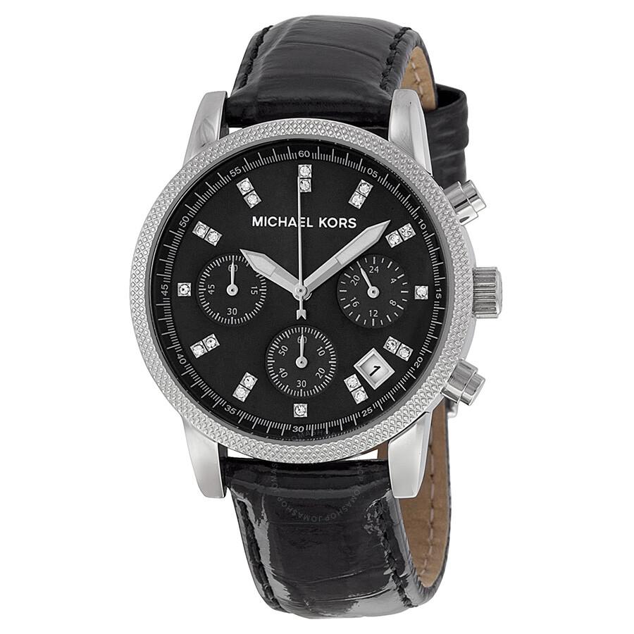 michael kors chronograph of pearl black