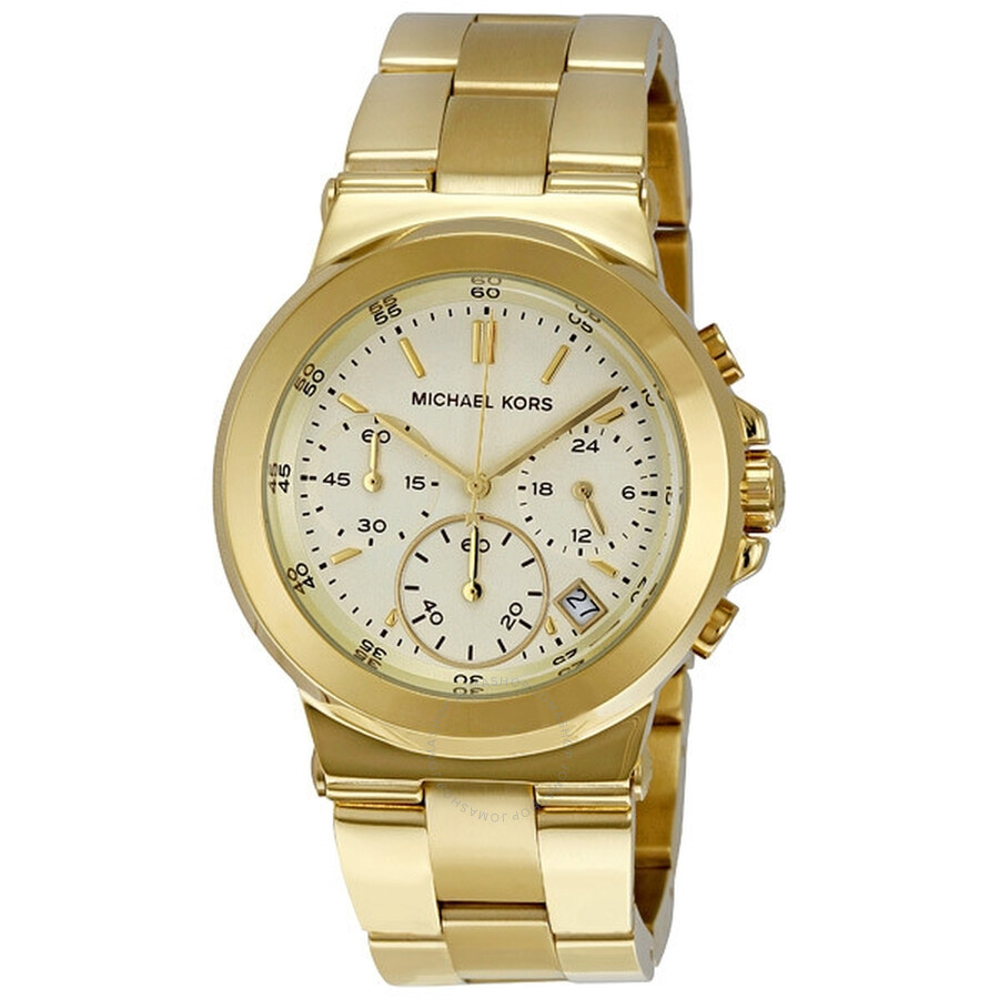4a241c0e80039 Michael Kors Chronograph Quartz Gold Dial Ladies Watch MK5222 ...