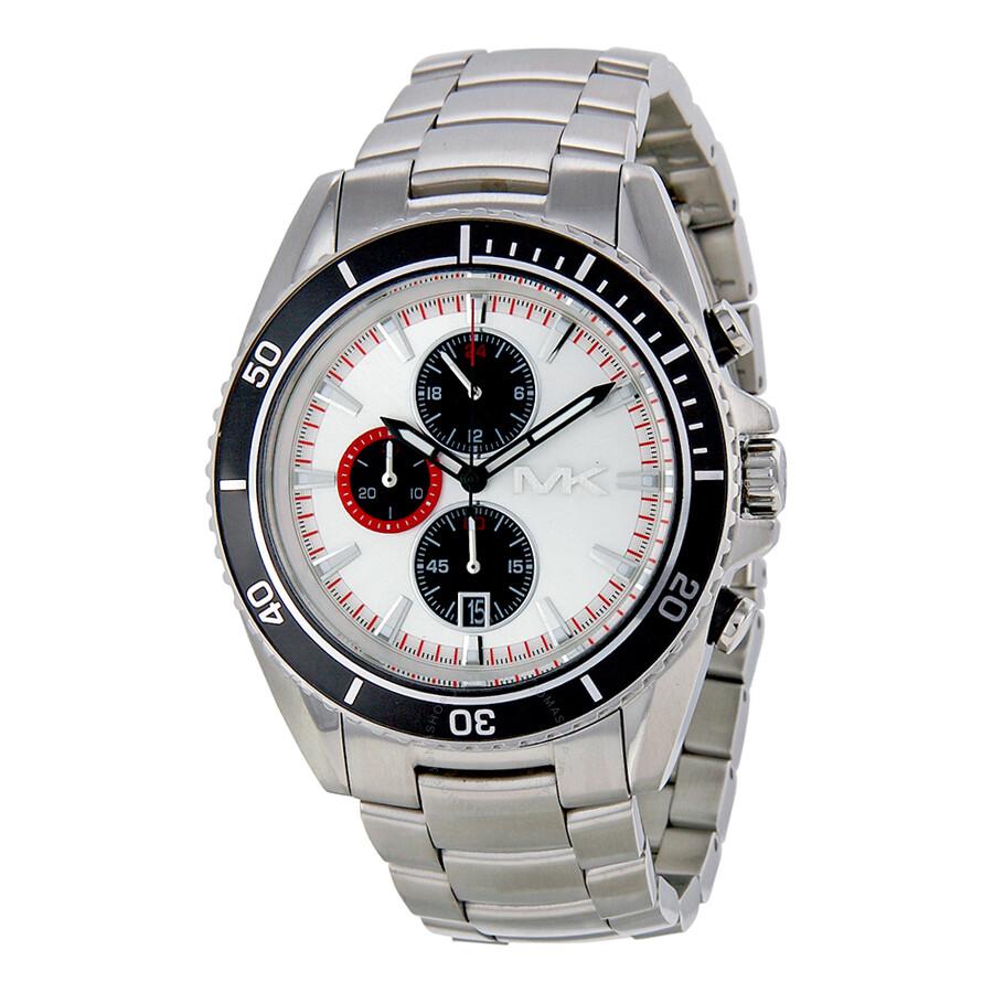 michael kors chronograph white stainless steel s