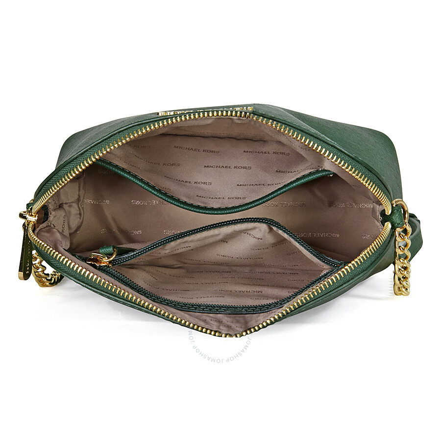 7f83fec4f858 Michael Kors Cindy Large Saffiano Leather Crossbody - Moss - Cindy ...