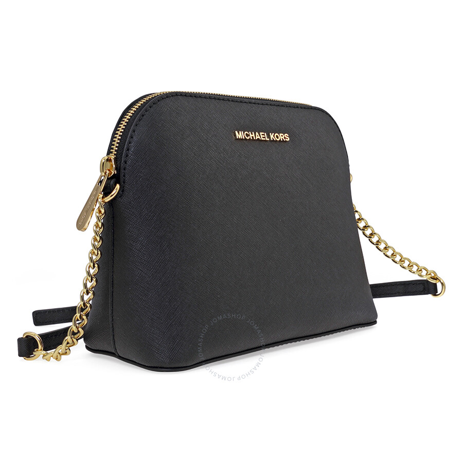 85d0fd87599d Michael Kors Cindy Large Saffiano Leather Crossbody - Black - Jet ...