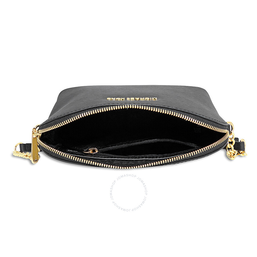 12f1473a255b Michael Kors Cindy Large Saffiano Leather Crossbody - Black - Jet ...
