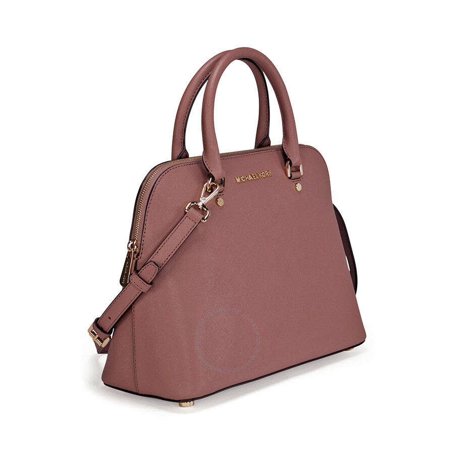 Michael Kors Cindy Laukku : Michael kors cindy large saffiano leather satchel dusty