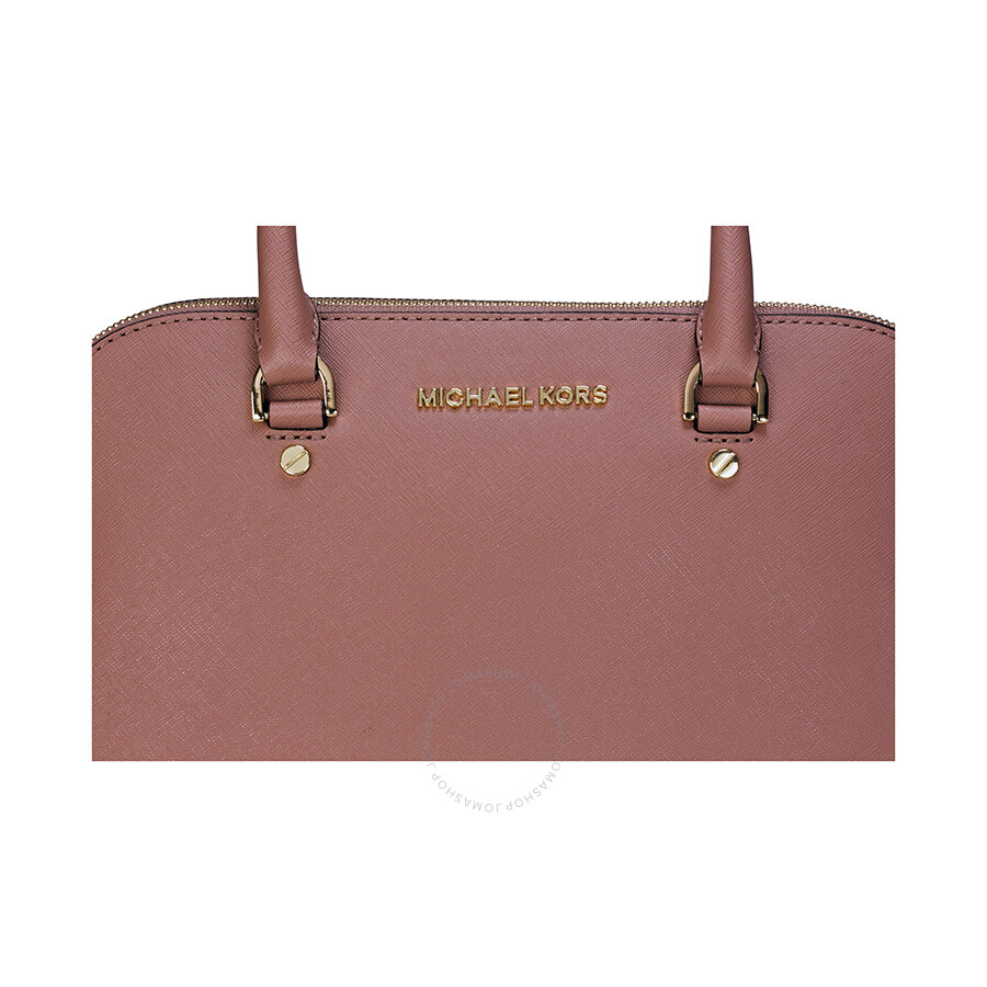 318adfe21e23 Michael Kors Cindy Large Saffiano Leather Satchel - Dusty Rose ...