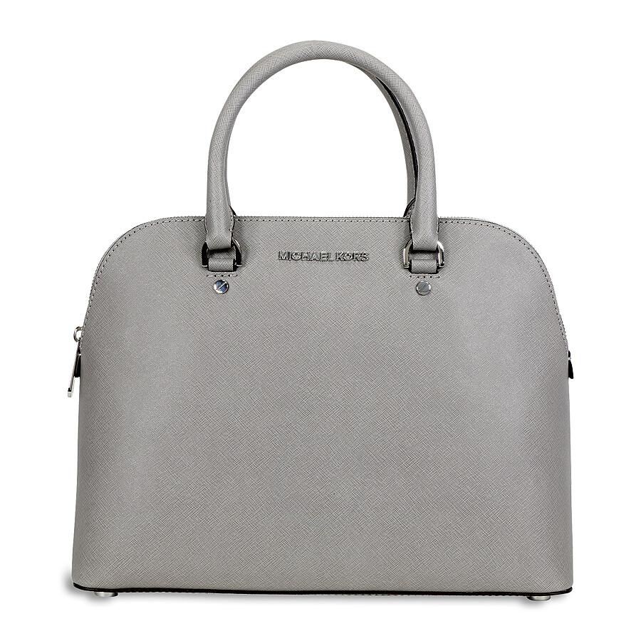 ccaf4c97a381 Michael Kors Cindy Large Saffiano Leather Satchel - Pearl Grey ...