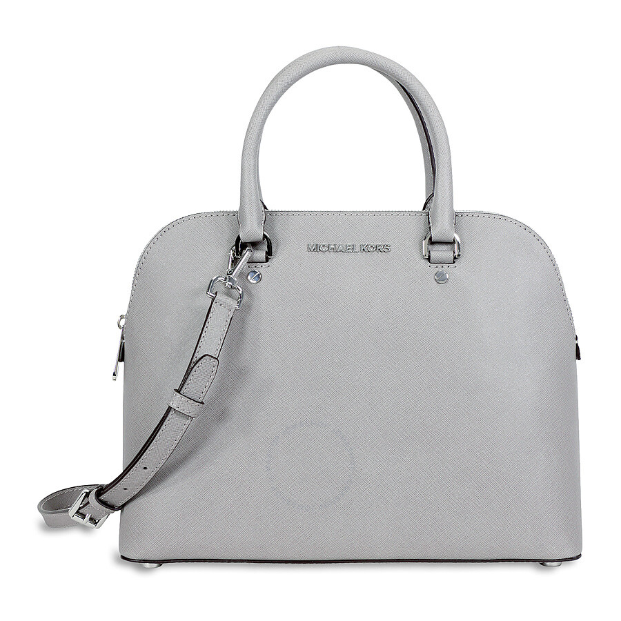 f8156c7a9279 Michael Kors Cindy Large Saffiano Leather Satchel - Pearl Grey ...