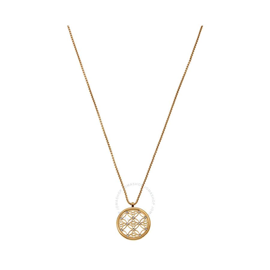 8a81649a9a6fc Michael Kors Clear Open Logo Pendant Necklace Item No. MKJ4284710