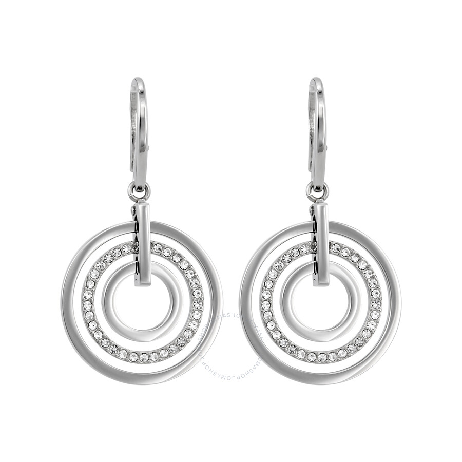 Concentric Circle Earrings: Michael Kors Concentric Circle Silver-Tone Drop Earrings