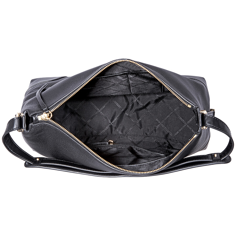 351da2dd7739 Michael Kors Crosby Large Pebbled Leather Shoulder Bag - Black ...