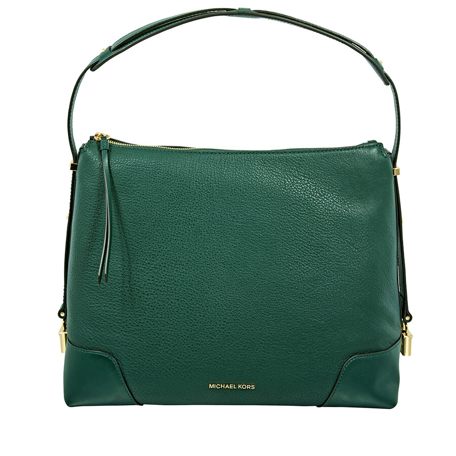 bfcb09fbb77c Michael Kors Crosby Large Pebbled Leather Shoulder Bag - Racing Green Item  No. 30H8GCBL3L-305