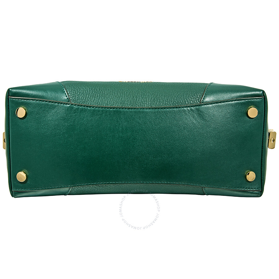 deb81f864b64 Michael Kors Crosby Large Pebbled Leather Shoulder Bag - Racing Green