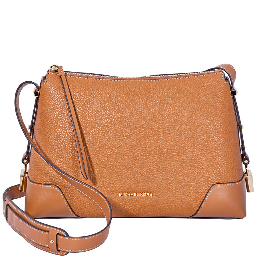 f55b7789e850b Michael Kors Crosby Medium Pebbled Leather Messenger Bag- Acorn Item No.  30H8GCBM2L-203