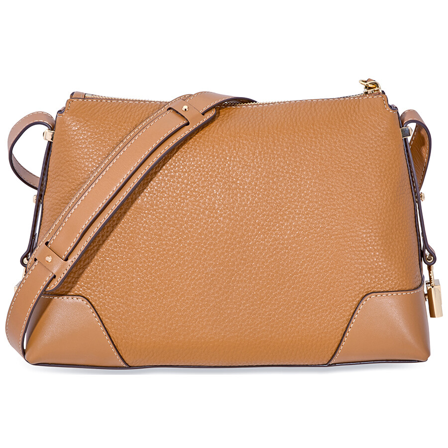 923e41587ab6 Michael Kors Crosby Medium Pebbled Leather Messenger Bag- Acorn Item No.  30H8GCBM2L-203